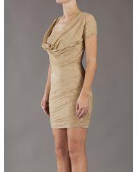 Plein Sud Jeanius - Natural Drape Sleeve Dress - Lyst