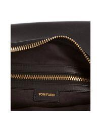 Tom Ford - Black Leather Zipper Detail Shoulder Bag - Lyst