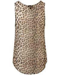 TOPSHOP | Multicolor Animal Zip Pocket Vest | Lyst