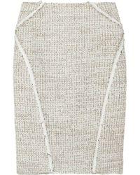 Zac Posen | Natural Bouclé-tweed Pencil Skirt | Lyst