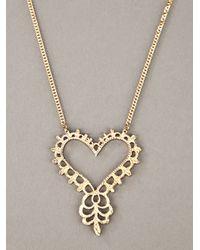 Zoe & Morgan - Metallic Gypsy Love Necklace - Lyst