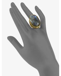 Alexis Bittar - Metallic Oval Labradorite Ring - Lyst