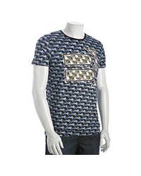 Balenciaga | Blue Graphic Print Cotton T-shirt for Men | Lyst