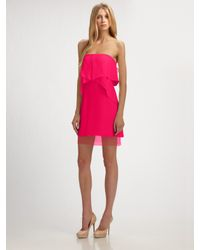BCBGMAXAZRIA | Pink Fei Fei Strapless Dress | Lyst