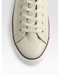 Converse | Natural Chuck Taylor Coated Canvas Oxfords for Men | Lyst