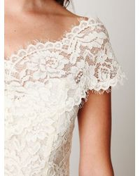 Free People - White Porcelain Lace Off The Shoulder Top - Lyst