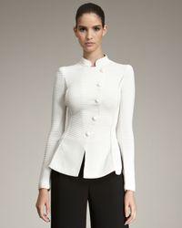 Giorgio Armani | White Asymmetric Jacket | Lyst