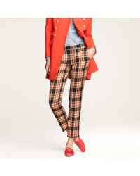 J.Crew | Brown Café Capri In Wool Plaid | Lyst