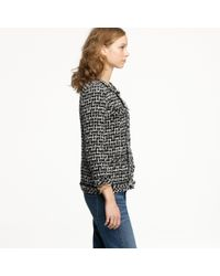 J.Crew - Gray Cherie Jacket In Shimmer Tweed - Lyst