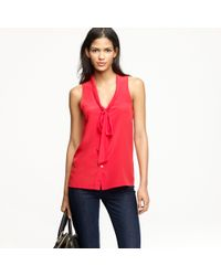 J.Crew | Red Lydia Blouse | Lyst