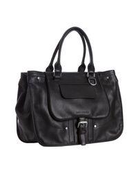 Longchamp | Black Leather Balzane Large Handbag | Lyst