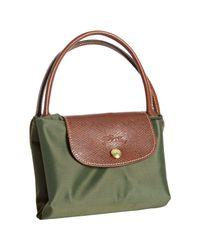 Longchamp | Green Loden Nylon Le Pliage Medium Folding Tote | Lyst