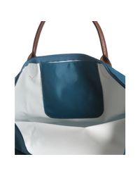 Longchamp - Blue Peacock Nylon Le Pliage Medium Folding Tote - Lyst