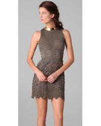 M Missoni - Gray Space Dye Chevron Knit Dress - Lyst
