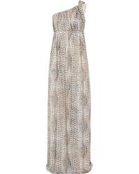 Melissa Odabash | Gray Savannah One-shoulder Jersey Maxi Dress | Lyst
