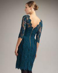 MILLY - Blue Celia Lace Dress - Lyst