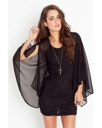 Nasty Gal | Laced Cape Dress - Black | Lyst