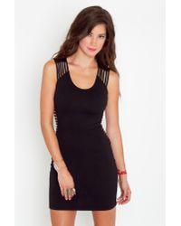 Nasty Gal - Black V Good Cutout Dress - Lyst