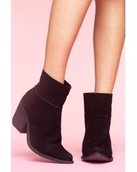 Nasty Gal - Roswell Ankle Boot - Black Suede - Lyst