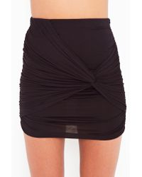 Nasty Gal | Gray Ruched Knot Skirt - Black | Lyst