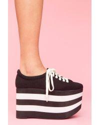 Nasty Gal | Black Sporty Platform Sneaker | Lyst