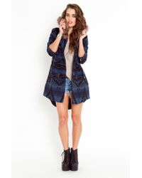 Nasty Gal | Bostwick Wool Toggle Coat - Blue | Lyst