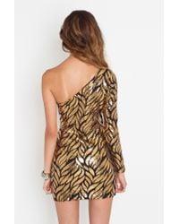 Nasty Gal - Metallic Gold Leaf Dress - Lyst