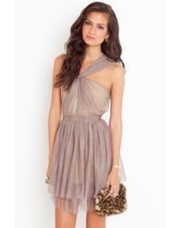 Nasty Gal - Brown Fancy Knot Dress - Lyst