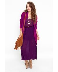 Nasty Gal - Purple Pleated Maxi Dress - Plum - Lyst