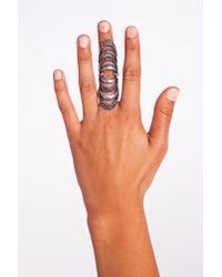 Nasty Gal | Metallic Caged Knuckle Ring | Lyst