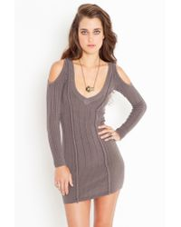 Nasty Gal | Gray Tight Rope Knit Dress - Slate | Lyst