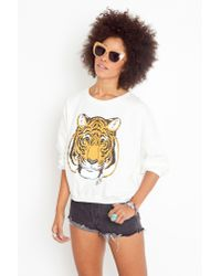 Nasty Gal | Multicolor Easy Tiger Sweatshirt | Lyst