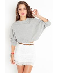 Nasty Gal | Scalloped Lace Skirt - White | Lyst