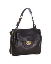 Prada | Black Leather Zipper Detail Shoulder Bag | Lyst