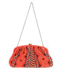 Santi - Red Navoho Tribal Beaded Clutch Bag - Lyst