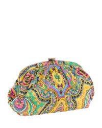 Santi | Multicolor Silk Paisley Print Beaded Clutch Bag | Lyst