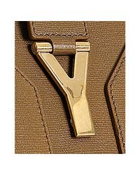 Saint Laurent - Brown Havana Leather Cabas Chyc Top Handle Bag - Lyst