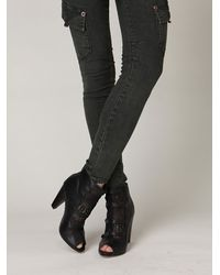 Free People | Black Victorian Lace Ankle Bootie | Lyst