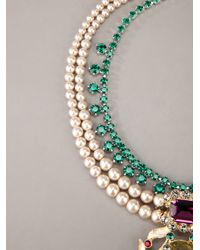Mawi | Green Double Pearl Strand And Citrine Gemstone Necklace | Lyst