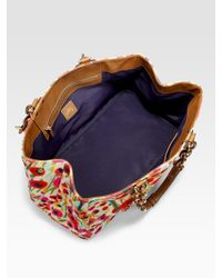 MILLY | Multicolor Poppy Print Canvas Tote Bag | Lyst