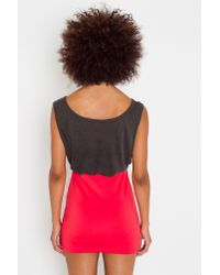 Nasty Gal - Ruched Knot Skirt - Red - Lyst