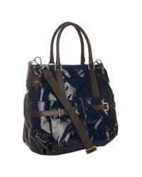 Tod's | Blue Crosshatched Coated Canvas J Bucket Large Hobo | Lyst