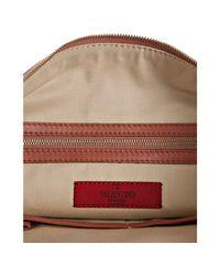 Valentino - Pink Rockstud Large Zip Clutch - Lyst
