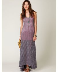 Free People | Gray Sundial Maxi Dress | Lyst