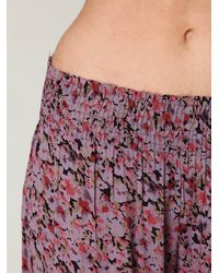 Free People - Purple Fp One Floral Fields Wideleg Pant - Lyst