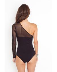 Nasty Gal - Deep Plunge Bodysuit - Black - Lyst