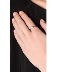 Bing Bang - Metallic Tiny Spider Ring - Lyst