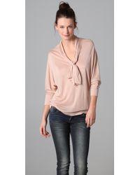 Lanston | Pink Dolman Tie Blouse | Lyst