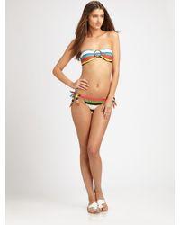 MILLY | Multicolor Striped Bikini Bottom | Lyst