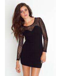 Nasty Gal | Black Elsa Lace Dress | Lyst
